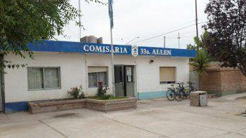 La Comisaría 33 de Allen se encargó de recepcionar la denuncia inicial que luego fue derivada a fiscalía.