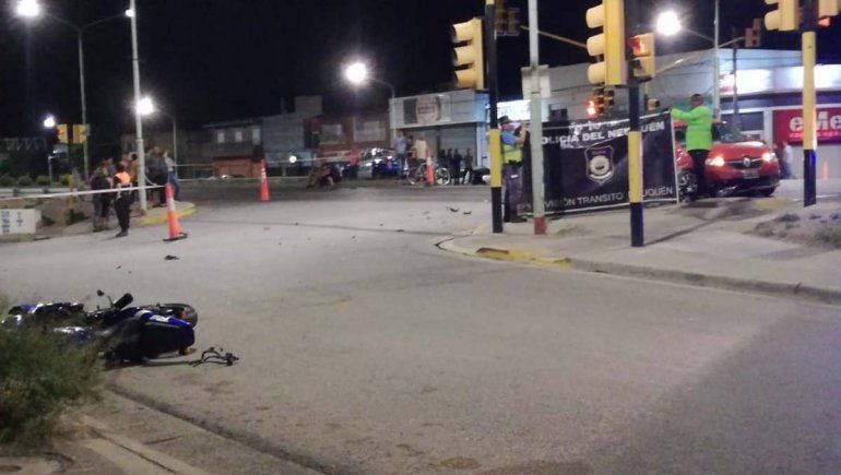 Plottier: murió un motociclista en un accidente sobre Ruta 22