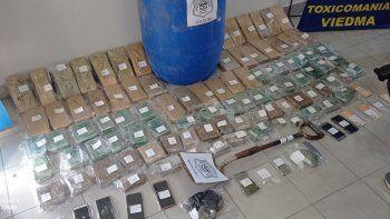 Secuestraron casi 60 kilos de marihuana.