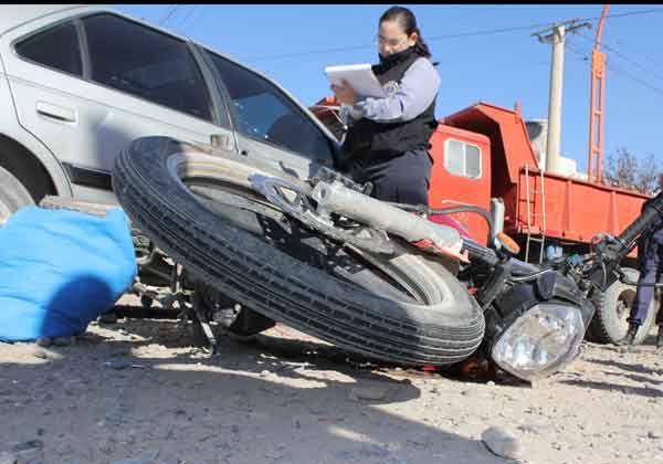 Motociclista herido tras una colisión
