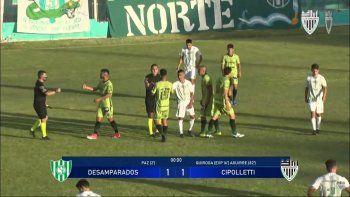 Aguirre y un gol para el empate de Cipo con 10 y en honor al Diego