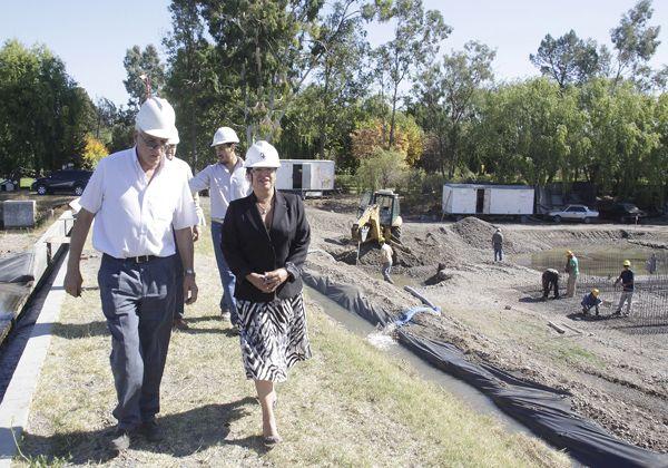 Avanza la obra del Plan Director de Agua en Allen
