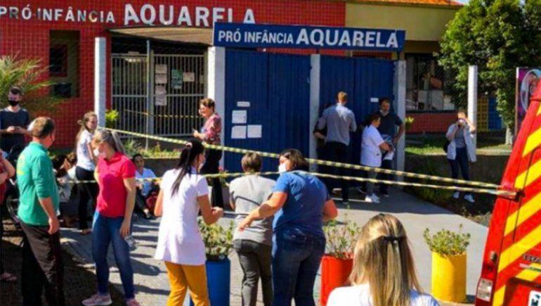 Horror en una guardería de Brasil: adolescente acuchilló y mató a niños