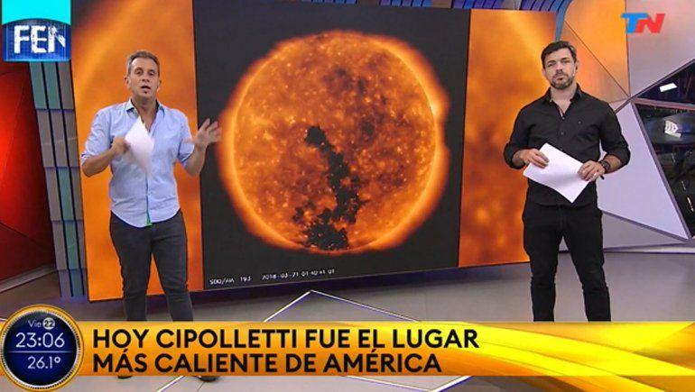 El récord de calor en Cipolletti fue noticia nacional