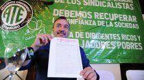 aguiar quiere que politicos y sindicalistas publiquen sus bienes
