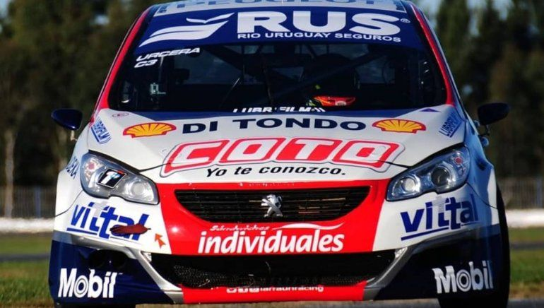 Urcera giró por primera vez con el 408 en el Turismo Nacional