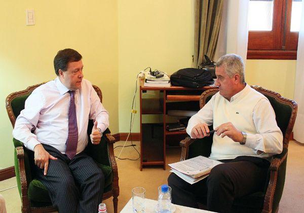 Baratti se reunió con Weretilneck: las obras están garantizadas