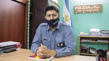 El comisario Moraga tiene a su cargo la unidad del barrio La Paz.