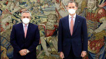 Alberto Fernández en España: se reunió con el presidente y el Rey