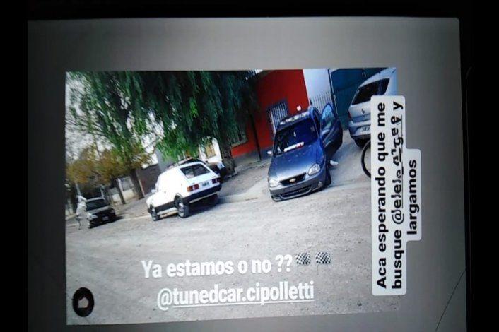 Video: adolescentes se filmaron corriendo picadas clandestinas cerca de Ferri