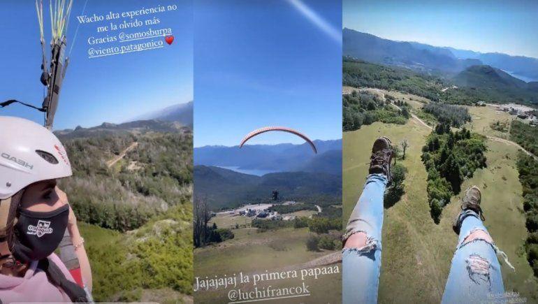 La adrenalínica aventura en parapente de Sofi Morandi en San Martín de los Andes
