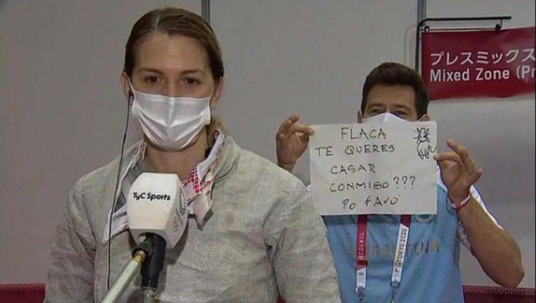 La inesperada propuesta de casamiento a una atleta argentina en Tokio