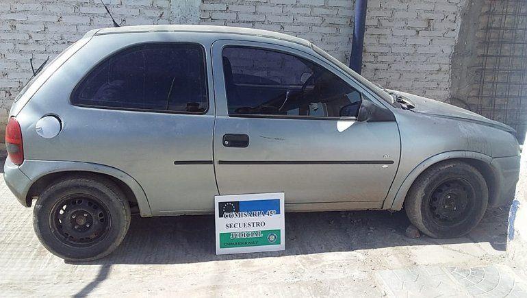 Robaron un auto y lo dejaron abandonado en el Anai Mapu
