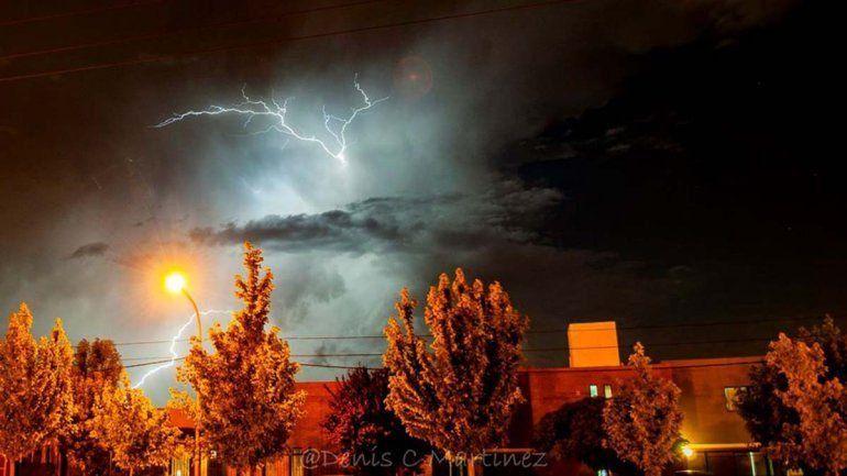Hay alerta amarilla en el Alto Valle por tormentas