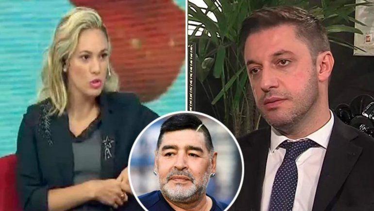 Rocío Oliva le respondió a Morla tras culparla por la muerte de Diego
