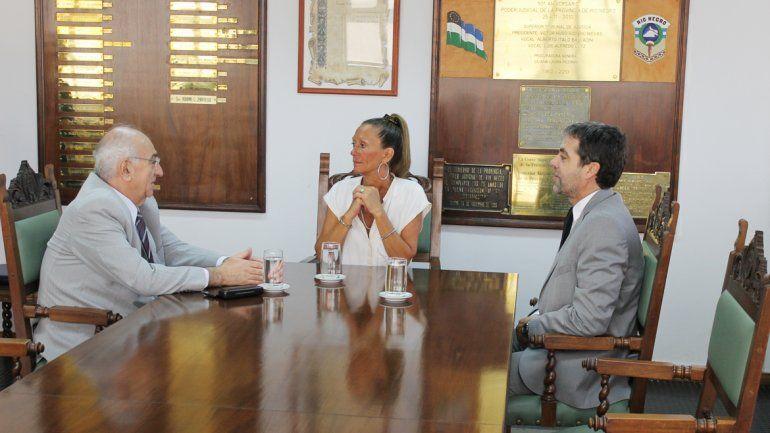 El STJ recibió al ministro de Economía rionegrino