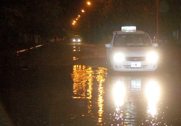 Taxistas criticaron a la comuna por los problemas de la lluvia
