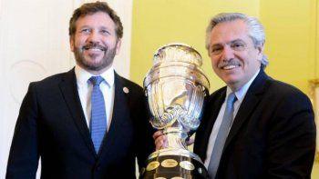 Alberto Fernández habló de la posibilidad de organizar en solitario la Copa América