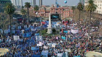 el gobierno pidio a las organizaciones sociales suspender la marcha