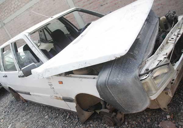 Hallaron auto robado cuando lo desmantelaban