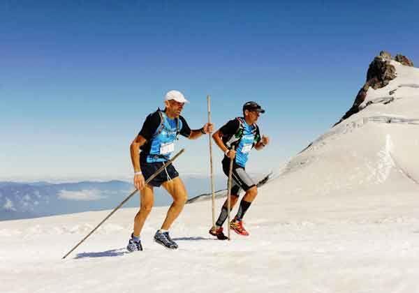 Reyes y Ortega en lo más alto del Columbia Cruce de los Andes