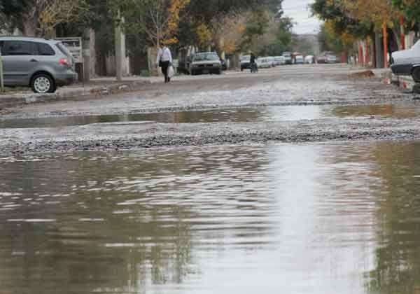 El barrio Godoy, otra vez inundado