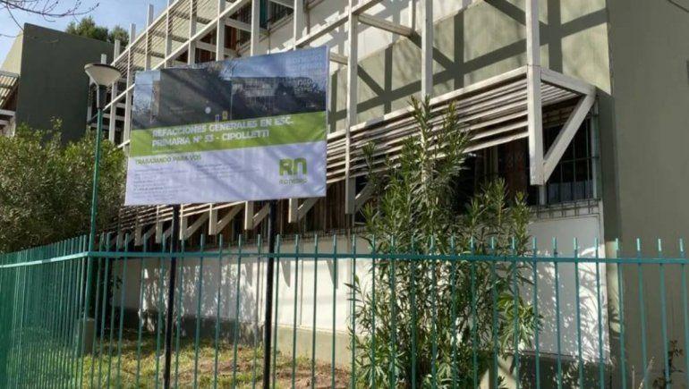 Comenzó la refacción de la Escuela 53 de Cipolletti