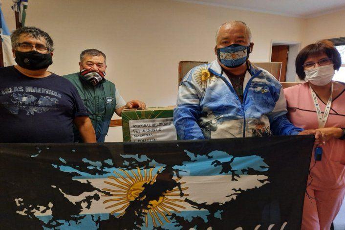 Veteranos de Malvinas donaron una fortuna en medicamentos