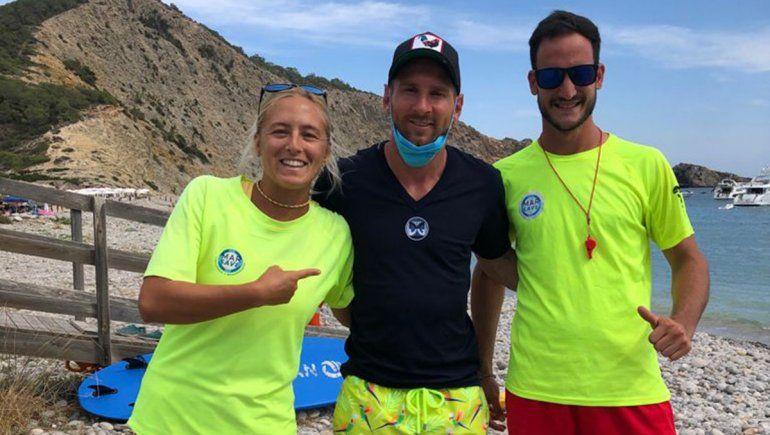 Lara, la cipoleña que custodió a Messi en la playa española