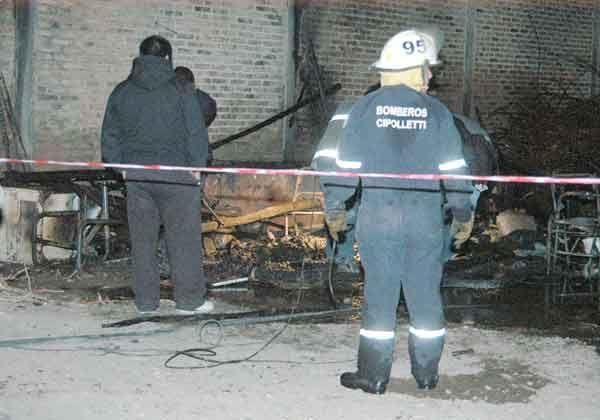 Murió calcinado tras voraz incendio