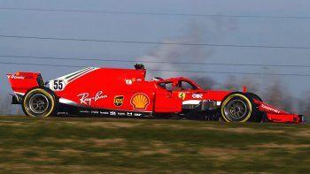 Carlos Sainz tuvo su primera prueba arriba de un monoplaza Ferrari de Fórmula 1