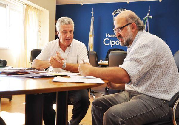 Baratti recibió al ministro de Educación de Río Negro