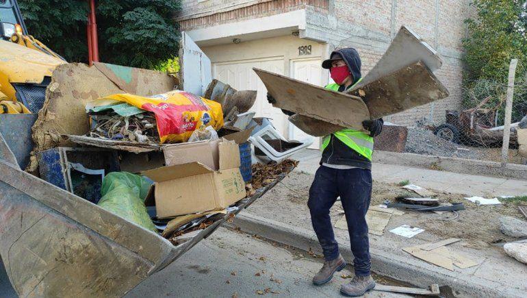 Cipolletti Limpia: recolectaron casi 300 metros cúbicos de residuos voluminosos