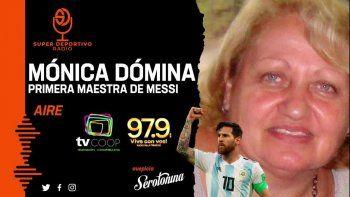 Conmovedor llanto de la primera seño de Messi, que sueña con verlo