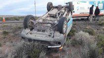 dos heridos en un brutal choque sobre la ruta nacional 151