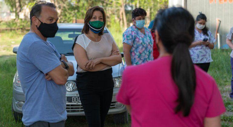 Carreras se reunió con trabajadores del hospital de Campo Grande