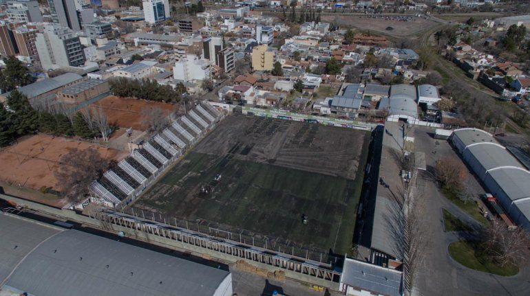 La imagen desde el dron de La Mañana permite ver el avance de la obra en La Visera.