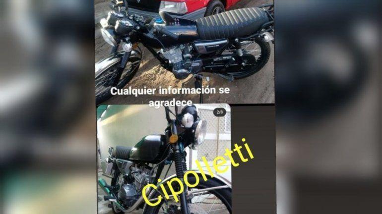 Se cruzaron con la moto que les habían robado y fueron al rescate