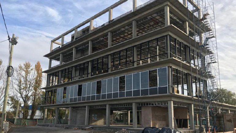 El edificio sustentable de Energía ya tiene más de la mitad de los trabajos terminados