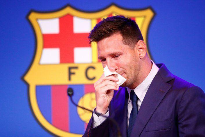 Messi se despidió del Barcelona entre lágrimas: Hice todo para quedarme