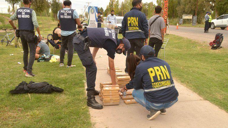 Más de 40 kilos de marihuana secuestraron en Puente 83