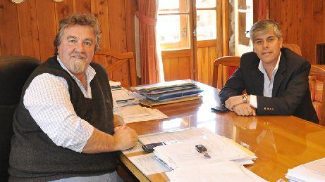 El vicegobernador de Río Negro de visita en Bariloche
