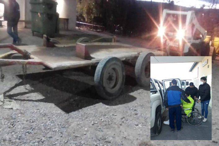 Camión volcador arrastró a un empleado municipal y sufrió graves lesiones
