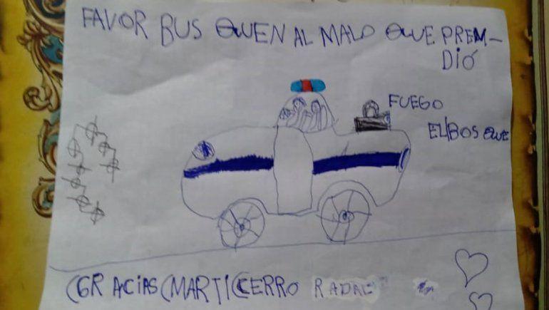 Una nena conmovió a Lago Puelo con su dibujo: Busquen al malo que prendió fuego el bosque