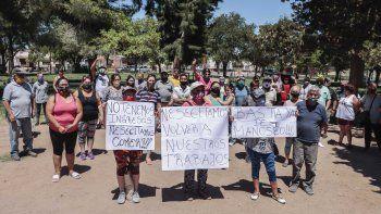 feriantes movilizados quieren volver a la plaza del don bosco