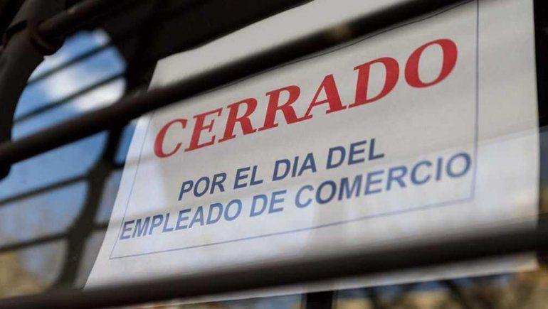 Este lunes será día no laborable para los empleados de comercio