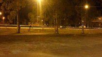 Una mujer fue atacada sobre la calle Balbín, muy cerca del puente peatonal.