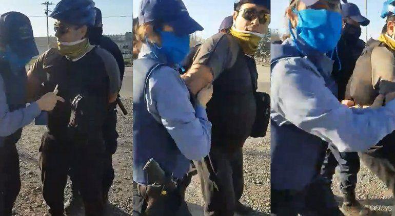 Polémico video de la detención de dos ciclistas en Oro