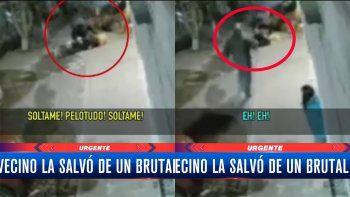 Buenos Aires: a patadas, salvó a una mujer de un delincuente armado