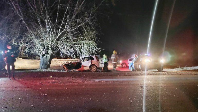 Ruta 7: violento choque dejó un herido grave